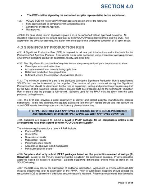 volvo supplier quality assurance manualfdf