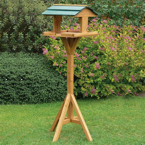 traditional garden wooden bird feeder feeding table free