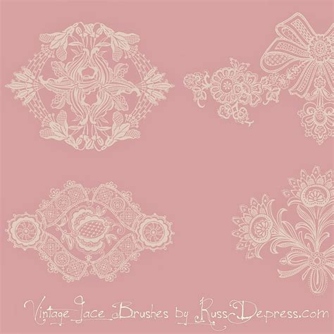 flowers lace free vintage lace ornament ps brushes for photoshop