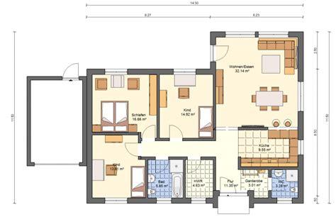 Grundriss Bungalow 3 Zimmer by Bgxl2 Bungalow Grundriss 115qm 4 Zimmer Garage Grundrisse