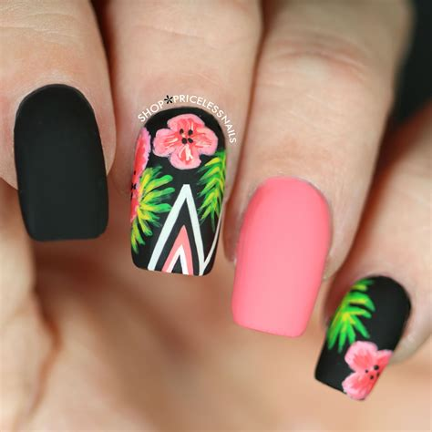 tropical nail designs tropical nail designs unique palm leaves hibiscus