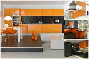 cuisine couleur orange pour un decor moderne et energisant With couleur de peinture de salon 4 cuisine couleur orange pour un decor moderne et energisant