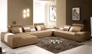 the interior of a living room in brown color features photos of interior exles