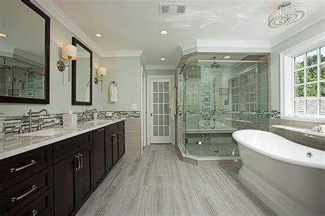 spa  master bathroom  oakton va  berriz design