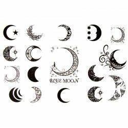 Lune Dessin Tatouage : tatouage ephemere lune tatouage temporaire et ph m re graphique ~ Melissatoandfro.com Idées de Décoration