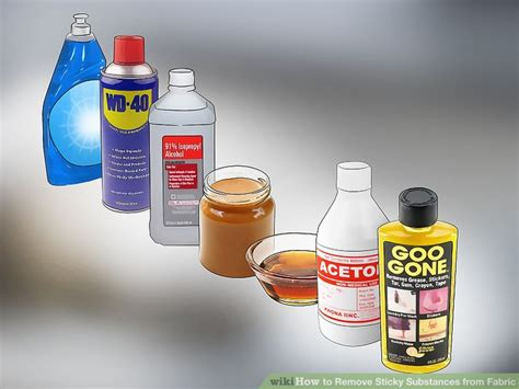 4 Ways To Remove Sticky Substances From Fabric