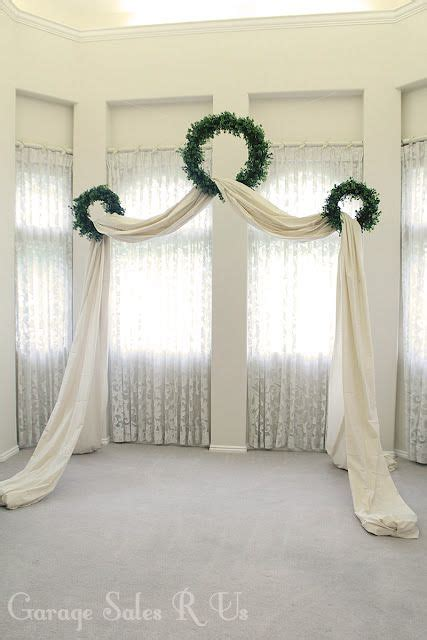 boxwood baby s breath or flower wreaths draped in