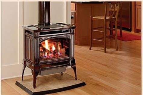 free standing propane fireplace gas all ways warm stove chimney