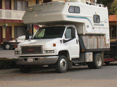 Bid On Travel Big Gmc 4500 With Bigfoot Cer Truck Cer Hq