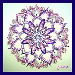 Purple Flower Drawing by Gladys Childers