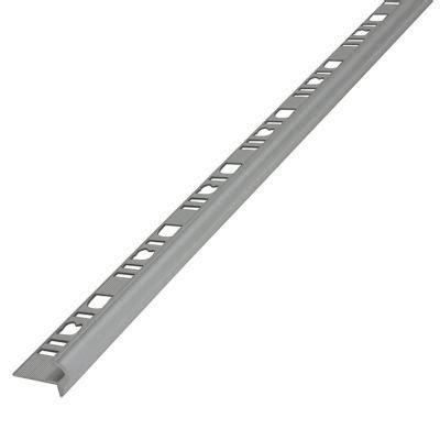 profil 233 nez de marche semi rond aluminium mat 10 mm castorama
