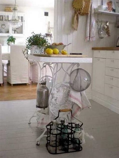 ideas  recycle vintage sewing machines recycled