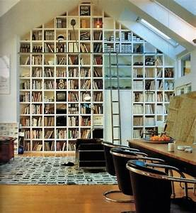 Floor, To, Ceiling, Bookshelves, Cathedral, Ceiling, Squares