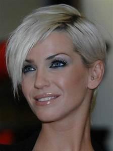 Coupe Cheveux Asymétrique : coiffures coupe cheveux asym trique coupe courte femme aux yeux bleus ~ Melissatoandfro.com Idées de Décoration