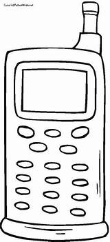 Coloring Pages Cell Printable Phones Phone Drawing Sheet Preschool Inspirational Curious George Printables Sheets Clip sketch template
