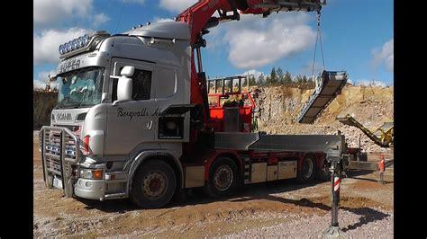 scania    sound  fassi  crane loading