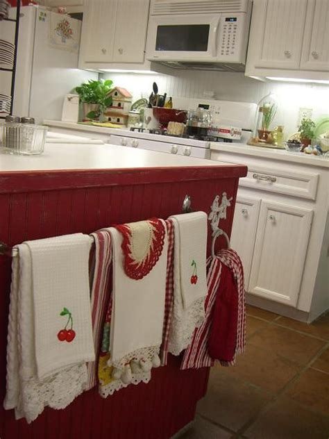 country kitchen towels beadboard and with a towel rod of vintage 2916