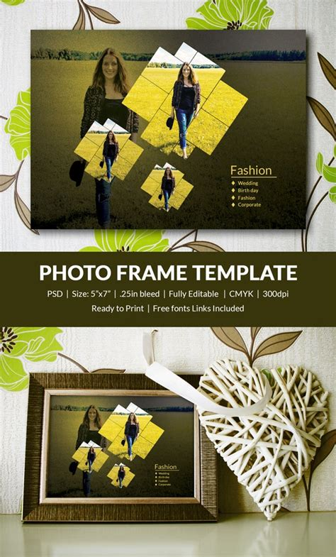 photo frame template   printable jpg psd esi