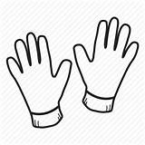 Gloves Outline Template Sketch Coloring Clothing sketch template