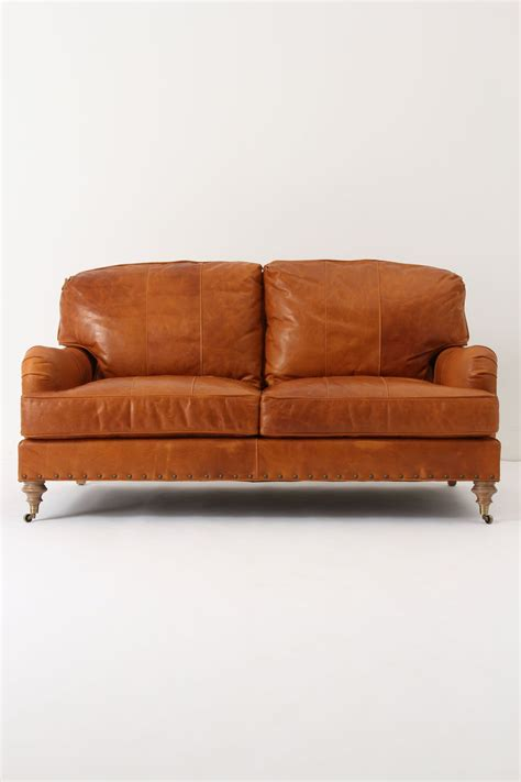 How To Clean A Leather Settee by Leather Winifred Settee Anthropologie La Casa