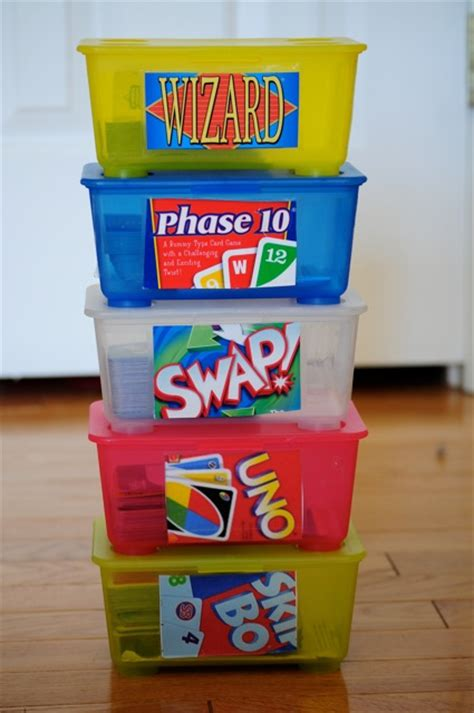 diy card game storage solution