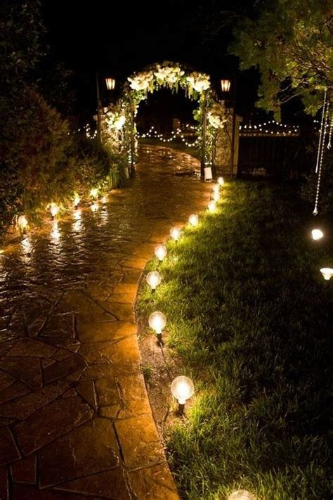path lighting ideas 40 romantic lighting ideas for weddings pond paths and inspiration