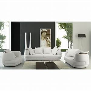 ensemble canape 321 places en cuir blanc ryga achat With ensemble canapé 3 2 cuir