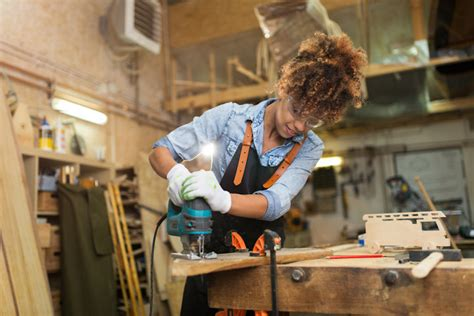 women   involved  woodworking