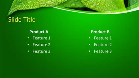 Free Leaf PowerPoint Template - Free PowerPoint Templates