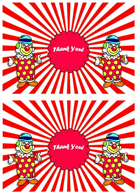 circus   cards birthday printable
