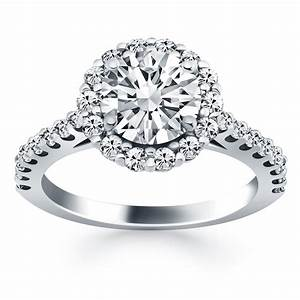 cathedral engagement ring with micro prong diamond halo in With cathedral wedding ring
