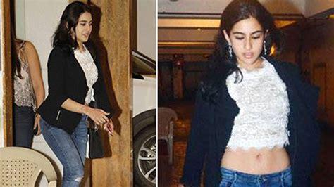 Sara Ali Khans Hot Look At Step Mom Kareenas 36th