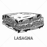 Lasagna Clip Drawing Clipart Stockunlimited Drawings Sketch Sugar Bowl Graphic Doodle Sketches Cube sketch template