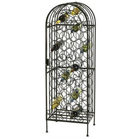 wrought iron wine racks howard miller wine arbor wrought iron 45 bottle rack