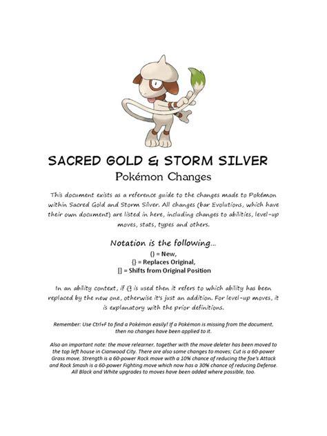 pokemon  sacred gold storm silver