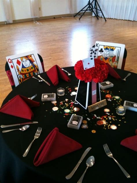vegas theme king  queen head table decorations