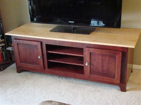 cherry bemaple tv stand  codewoodworks