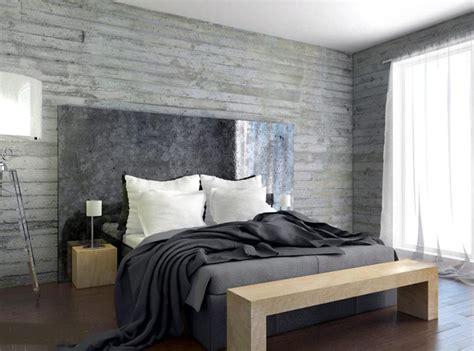 bold bedroom designs  concrete walls rilane