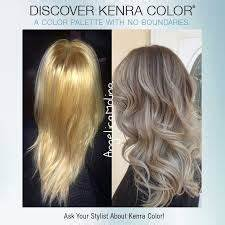 Time to brighten up those blondes Formula Kenra Color