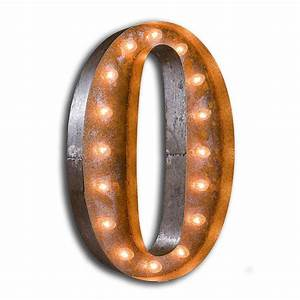 rusty 24 inch letter o marquee light by vintage marquee lights With letter o light