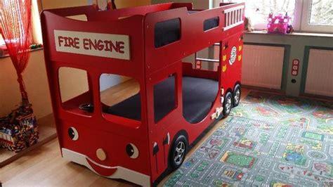 Hochbett Feuerwehrbett Kinderbett Etagenbett Rot In