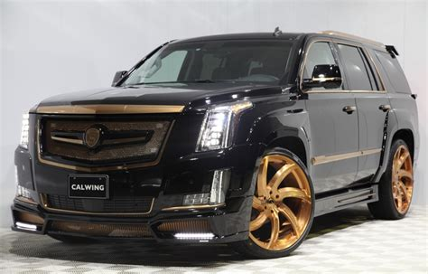 Calwing Cadillac Escalade Goes Black & Gold