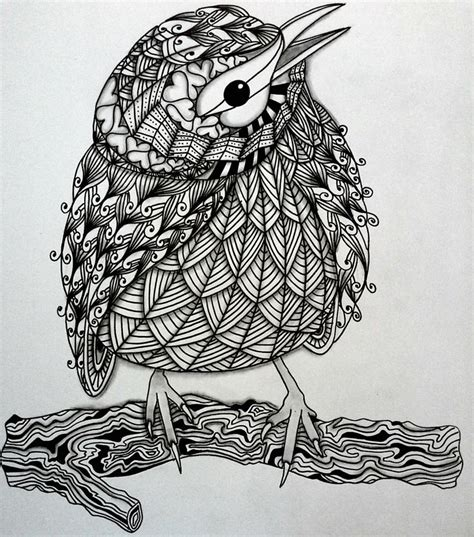 bird zentangle zentangle zendoodle doodles tangles