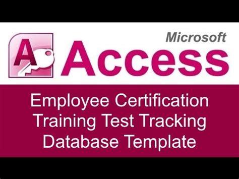 microsoft access employee certification training test