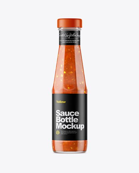 Feel free to purchase our items with maximum discount possible. Clear Glass Bottle with Sweet and Sour Sauce Mockup in ...