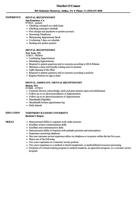 Receptionist Sle Resume by Dental Office Cleaning Checklist Template Onvacations