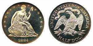1884 Seated Liberty Half Dollar Coin Value Prices Photos