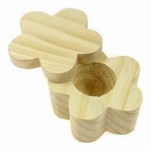 Fleur En Bois : boite fleur couvercle pivotant en bois brut d corer ~ Dallasstarsshop.com Idées de Décoration