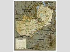 Carte Zambie, Carte de Zambie