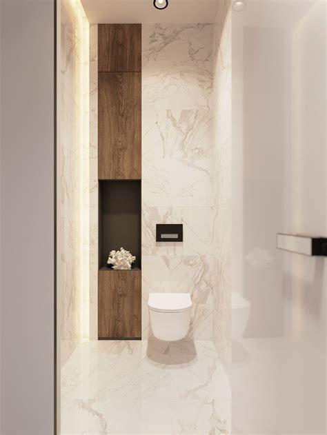 marble bathroom  wood niche bathroom decor